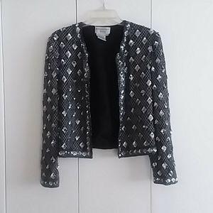 VINTAGE Papell Boutique Evening Sequins Jacket